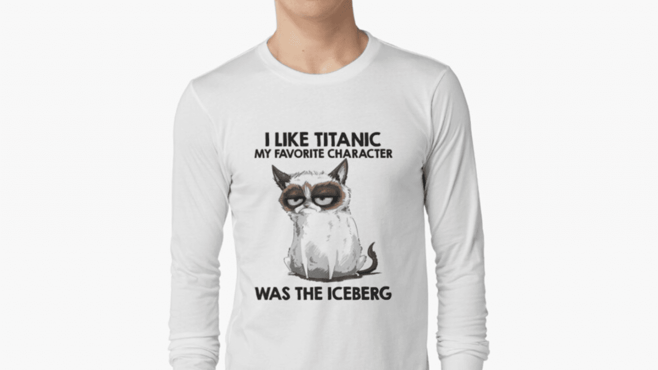grumpy cat titanic tshirt
