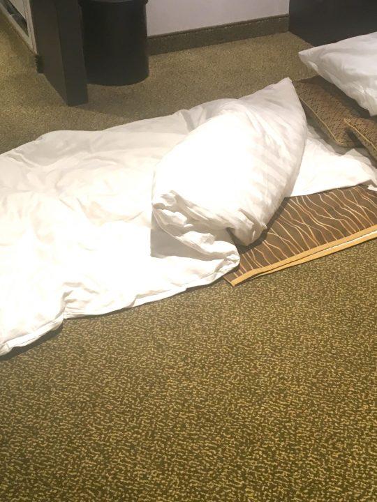 seasickness bed on floor msc meraviglia